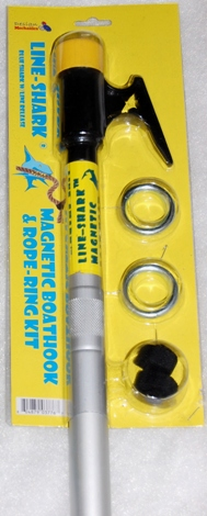 Grey shark telescoping boat hook